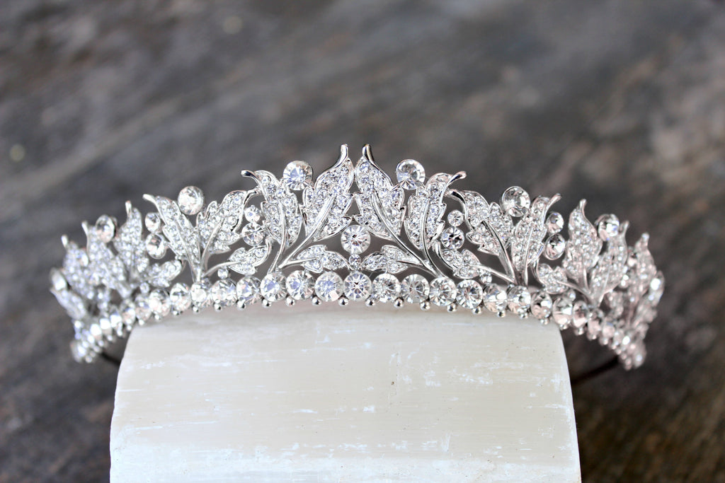 VICTORIA Swarovski Crystal Wedding Tiara PAREUR SUITE