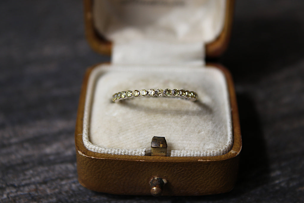YELLOW SAPPHIRE Stackable Eternity Wedding Band