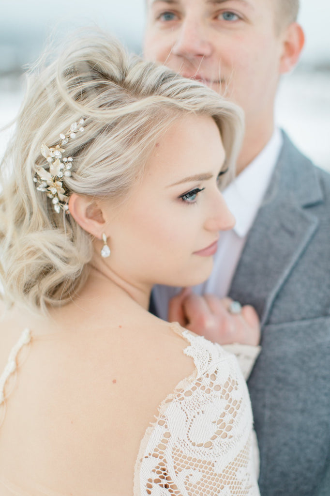 Bridal Headpiece and Bridal Earrings | EDEN LUXE Bridal