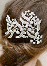 JULIA Silver Swarovski Crystal Branches Headpiece