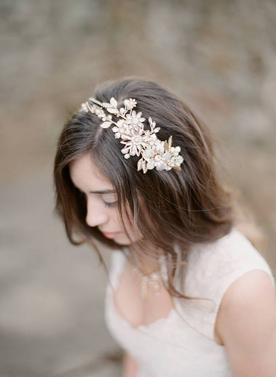 MORGAN Floral Bridal Headpiece