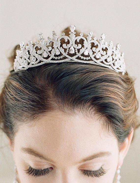 Spencer Simulated Diamond Bridal Tiara