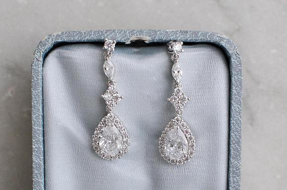 SPENCER Simulated Diamond Earrings