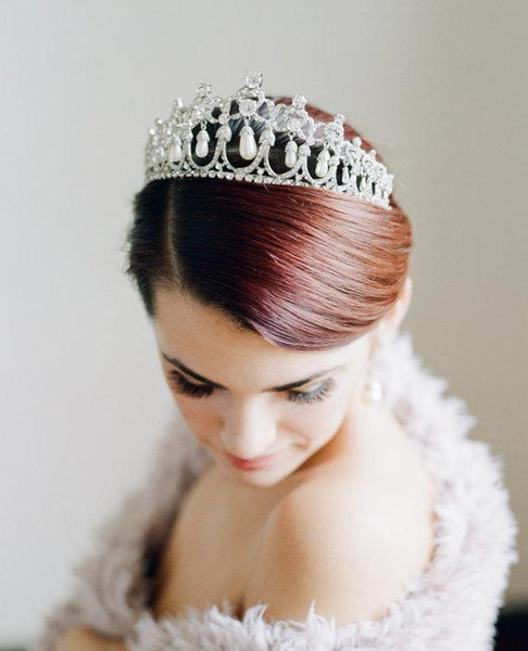 CAMBRIDGE Swarovski Crystal and Pearl Tiara