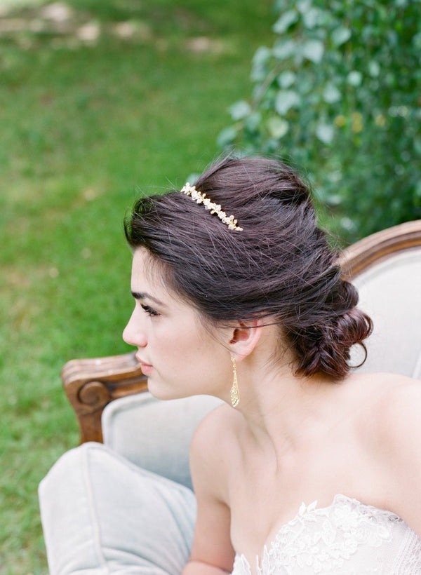 MINA Gold Headband Tiara