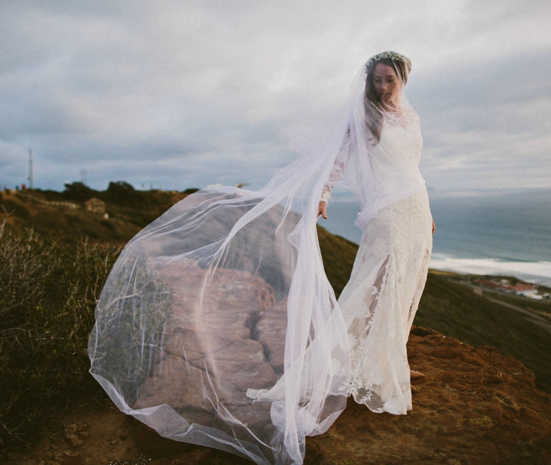 GRANDE MAUDE Cathedral English Net Drop Veil