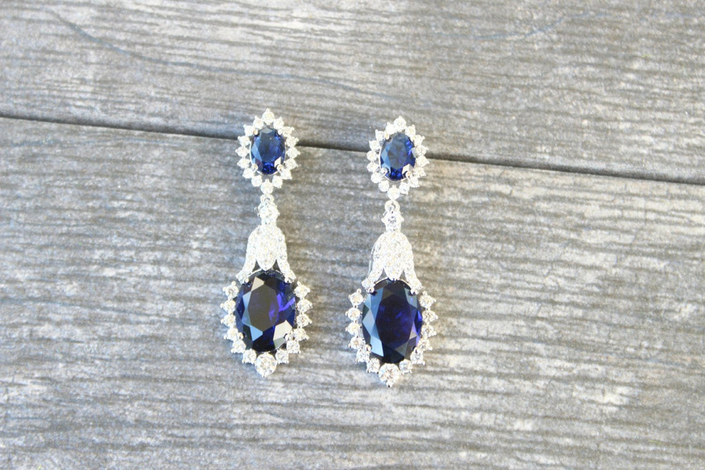 The WILLOUGHBY Sapphire Drop Earrings