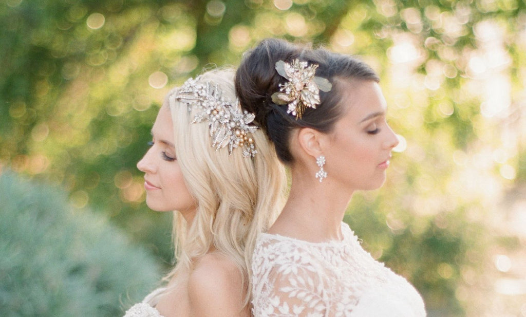 SIENNA Bronzed Leaves Bridal Hair Clip