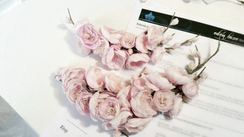 SOPHIA Blush Silk Flower Wedding Headpiece