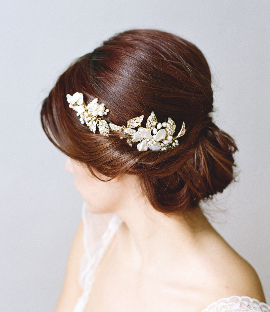 EMMA ANNE Gilded Leaves Bridal Headpiece