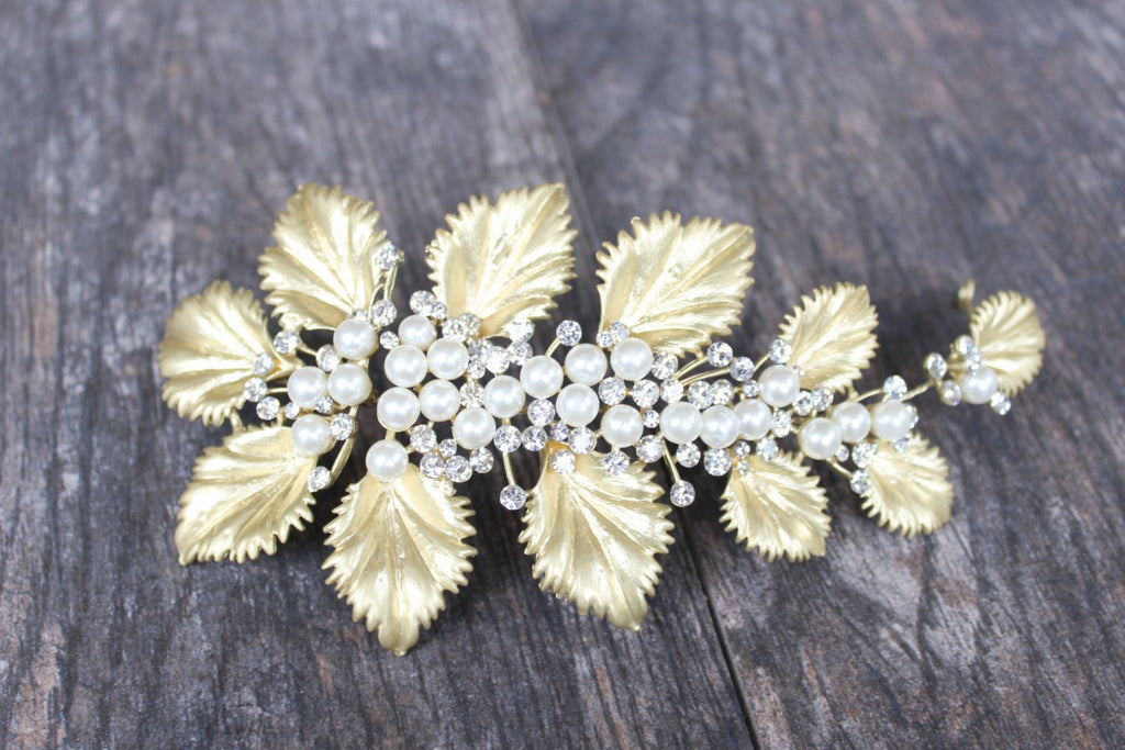 EUGENIE Gilded Leaves Headpiece