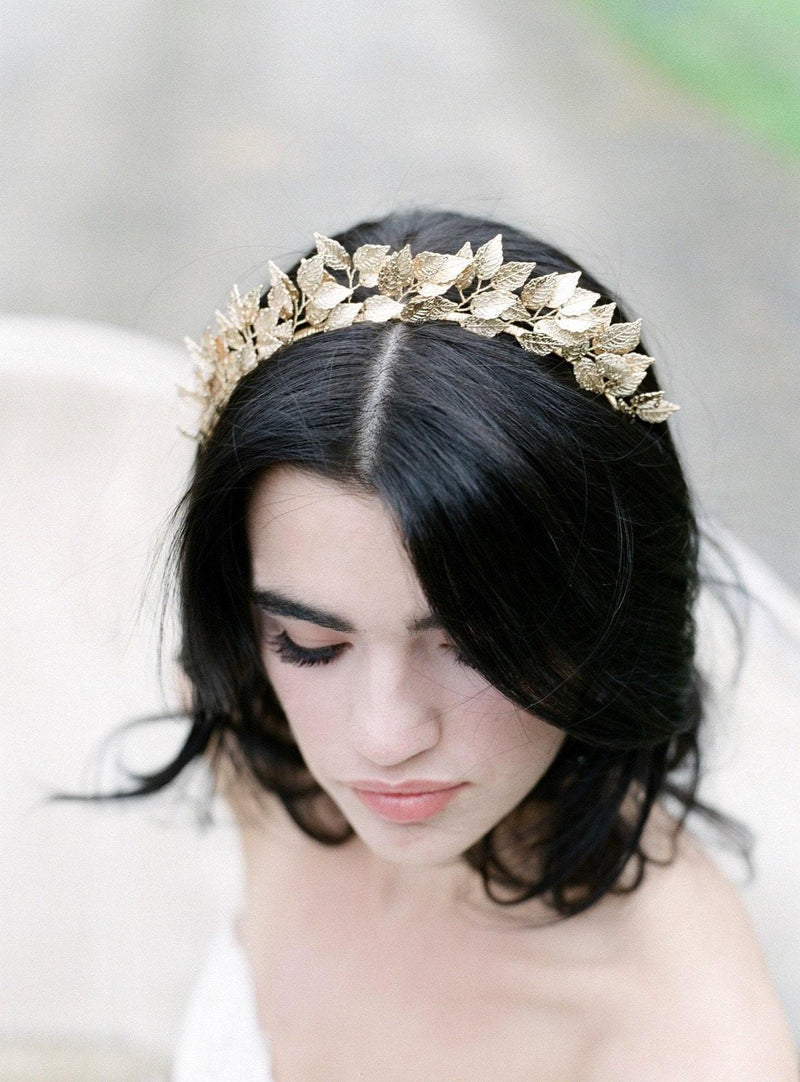 SIGRID Rose Gold Bridal Headpiece Tiara - As Seen in Southern Bride Magazine