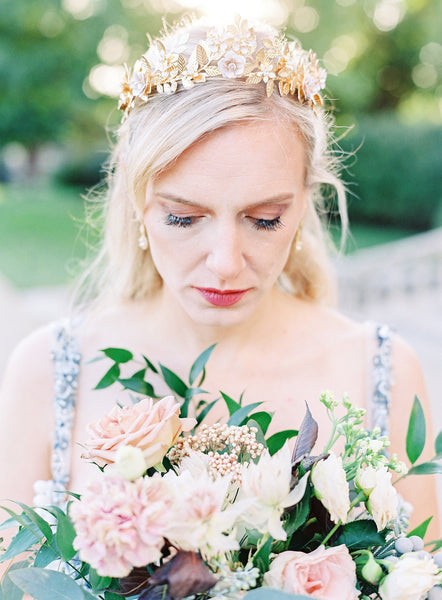 HALEY Gilded Leaves and Blossoms Tiara