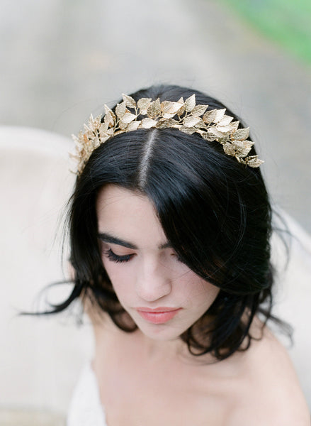 SIGRID Gold Leaf Headpiece Tiara - As Seen in Southern Bride Magazine