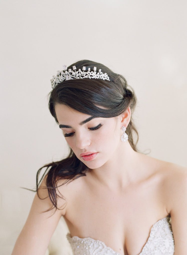 URSULA Bridal Tiara and Wedding Earrings