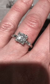 Bespoke Diamond and Platinum Ring for Z.S.