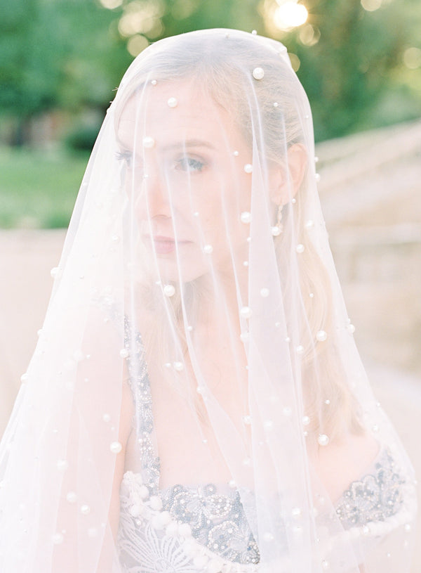 EMMA Pearled 1 Layer Veil