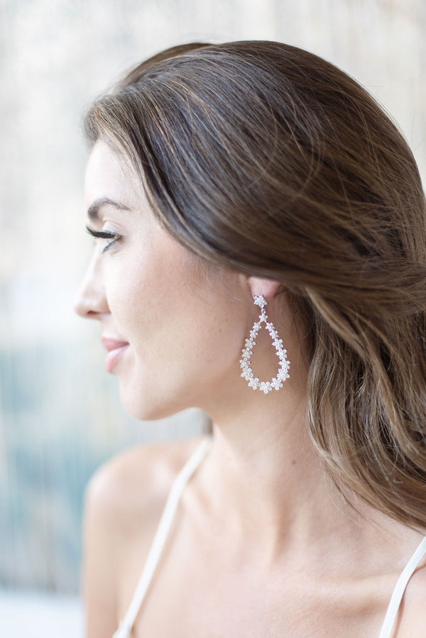 JENNA Simulated Diamond Statement Drop Earrings