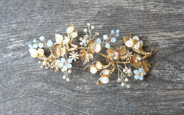 JULIET Bridal Headpiece with Comb attached for Nada