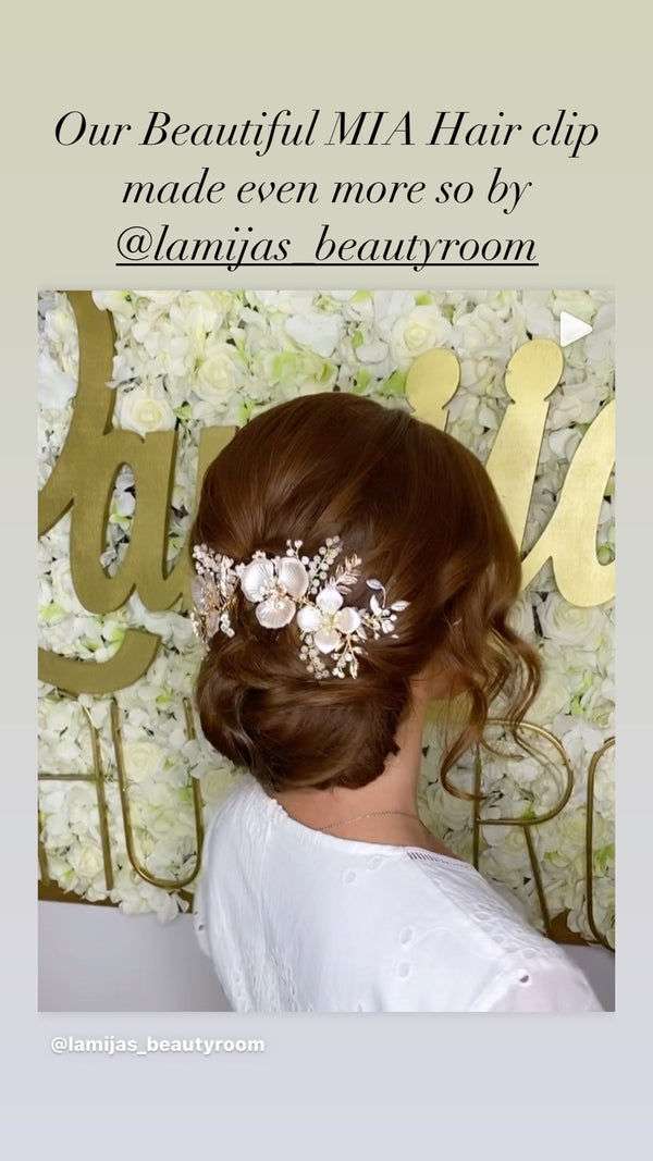 Rose Gold Hair Comb for Wedding | EDEN LUXE Bridal