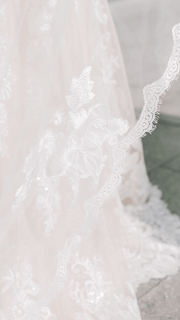 LILY Lace Floral Cathedral Veil