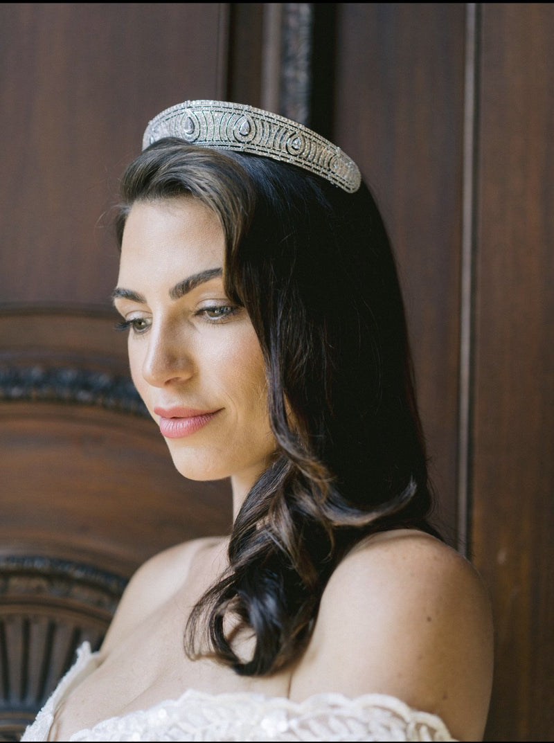 ANNE Simulated Diamond Bandeau Tiara