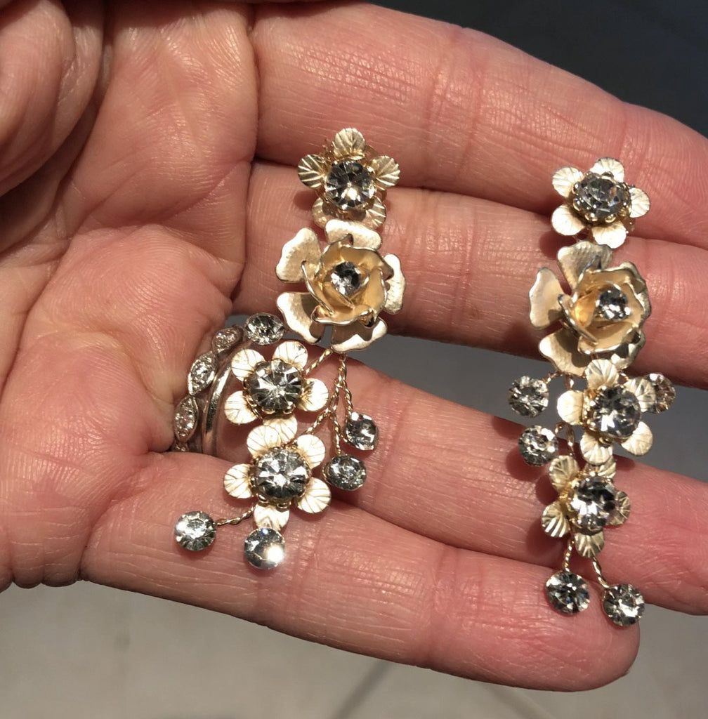 CLARINA Floral Drop Earrings