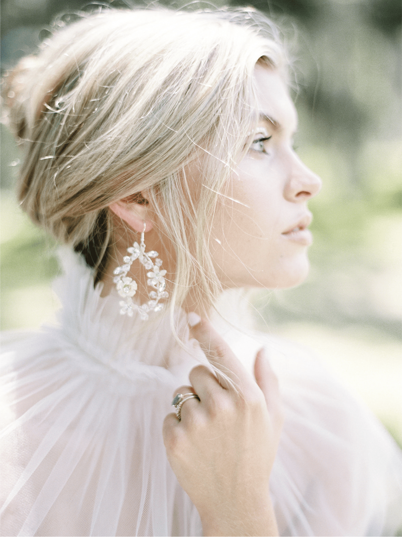 DORIEN Floral Drop Earrings
