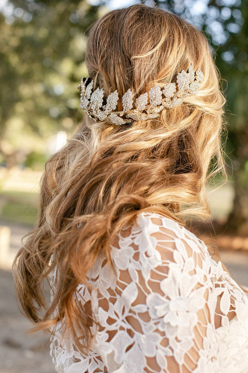 LAUREL Gilded Leaves Headpiece Tiara