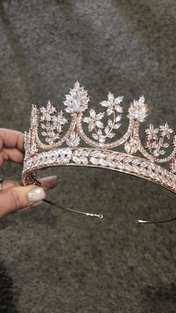 Bespoke Rose Gold Simulated Diamond Crown