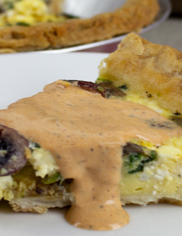 Blueberry Maple Quiche