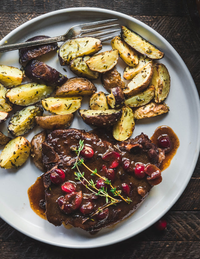 Roasted Cranberry Pork Chops