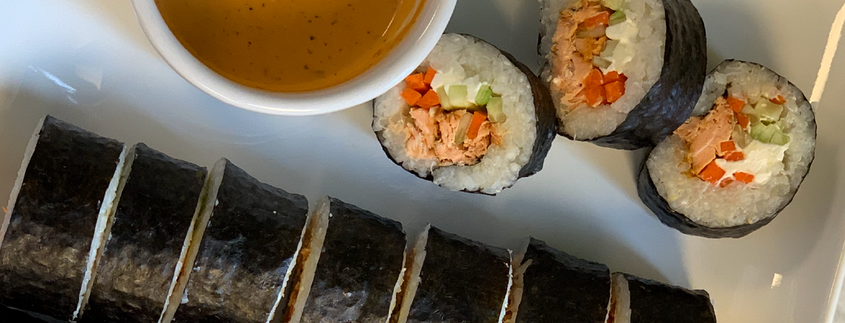 Sweet Heat Glazed Salmon Sushi