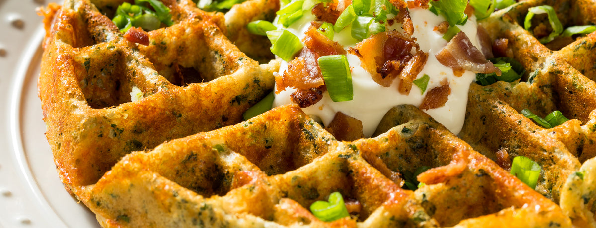 Scallion Waffles