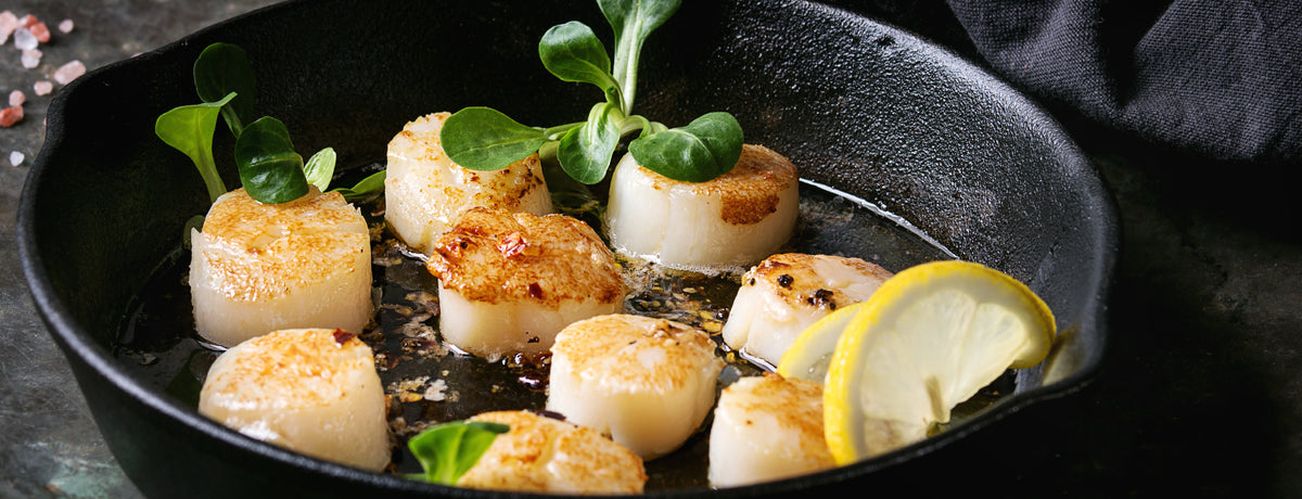 Seasoned Seared Scallops