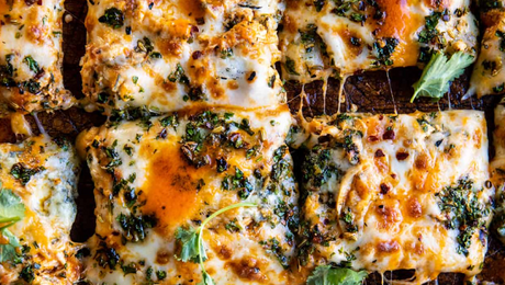 Sheet Pan Buffalo Chicken Pizza
