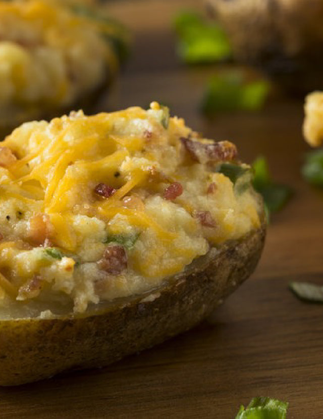 Spicy Twice Baked Potatoes