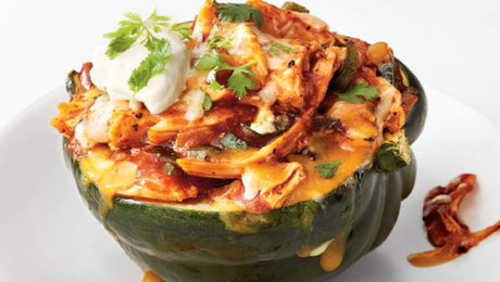 Chicken Enchilada-Stuffed Squash