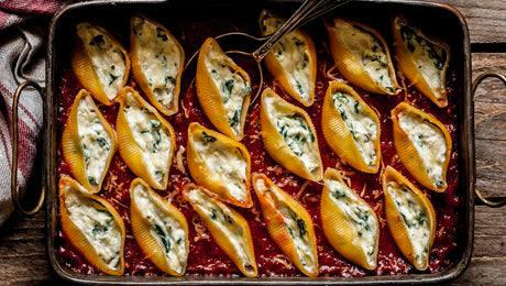 Stuffed Squash Shell Pasta