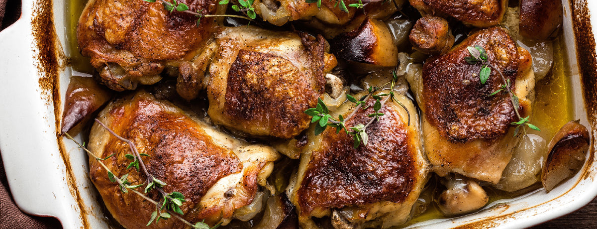 Tangy Mustard Chicken and Apples