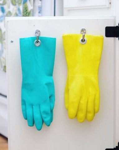 Two Colors of Rubber Gloves