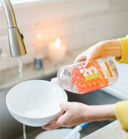 Washing Dishes with Boulder Clean Dish Soap