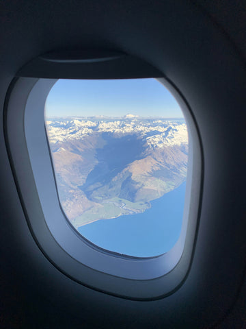 First Fiordland glimpse out the aircraft window