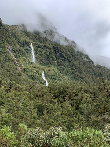 Fiordland is filled with thousands of waterfalls