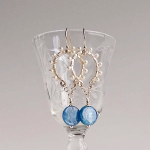 Hip Halo Earrings ~ Blue Kyanite
