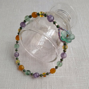 Button Bracelet ~ Aster Hued - Vintage Glass