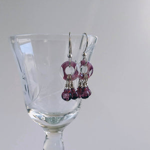 Czech Loop - Three Drop Earrings