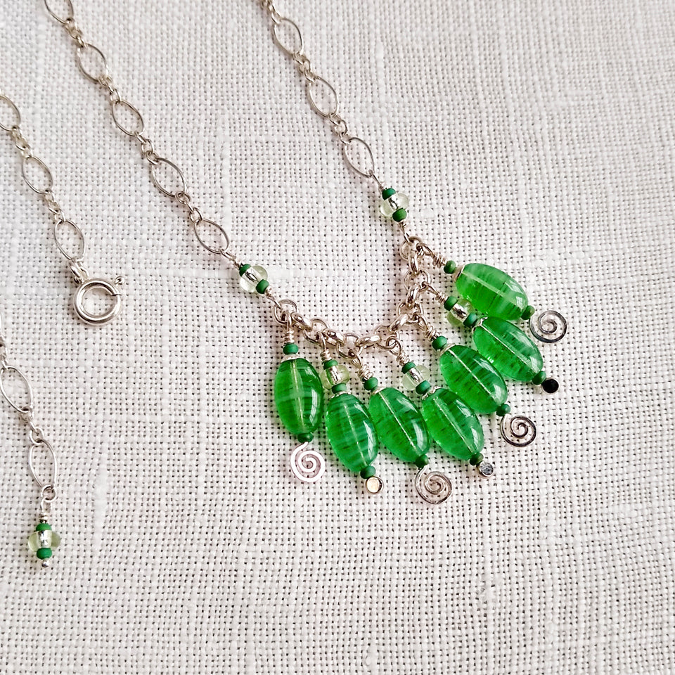 Jungle Green - Seven Drop Necklace
