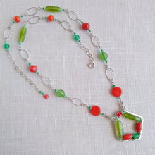 Load image into Gallery viewer, Tropicalia Necklace - Vintage Glass