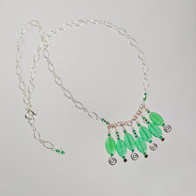 Load image into Gallery viewer, Jungle Green - Seven Drop Necklace